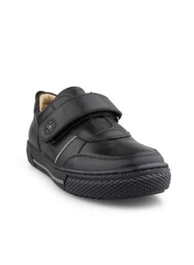 Cici Bebe Ayakkabı Cicibebe Deri Şeritli Cırtcırtlı Erkek Çocuk Spor Ayakkabısı Siyah